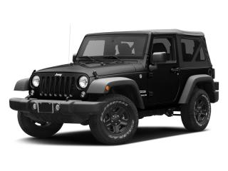 Used 2017 Jeep Wrangler Sport 4X4- Tow, One Owner! for sale in Kingston, ON