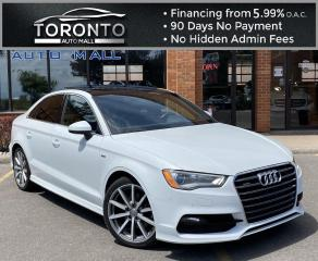 Used 2016 Audi A3 2.0T Premium Plus Sedan quattro S tronic Progressive w/ S-Line package Panoramic Sunroof Push Start Clean Carfax for sale in North York, ON