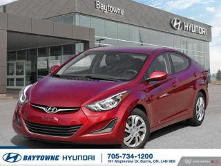 Used 2016 Hyundai Elantra GL MT for sale in Barrie, ON