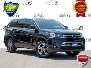 Used 2018 Toyota Highlander Limited 2nd Row Captain Chairs | Panoramic Sunroof  | Clean Car Fax Report for sale in St Catharines, ON