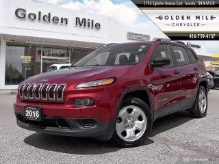 Used 2016 Jeep Cherokee Sport Clean Carfax, Auto, A/C, Keyless, Great Value SUV! for sale in North York, ON