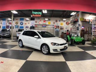 Used 2017 Volkswagen Golf 1.8TSI COMFORTLINE AUT0 A/C LEATHER H/SEATS BACKUP CAMERA for sale in North York, ON