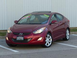 Used 2012 Hyundai Elantra LEATHER,LIMITED,LOADED,NO-ACCIDENT,DEALER SERVICED for sale in Mississauga, ON