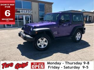 Used 2018 Jeep Wrangler Sport | Auto | A/C | Lease Return | Cruise Control for sale in St Catharines, ON