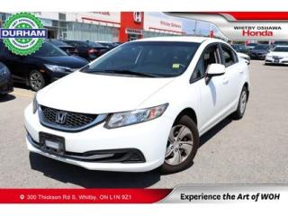Used 2013 Honda Civic 4dr Auto LX for sale in Whitby, ON