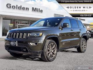 Used 2017 Jeep Grand Cherokee Limited 75th Anniversary Clean Carfax, Leather, Pano Roof for sale in North York, ON
