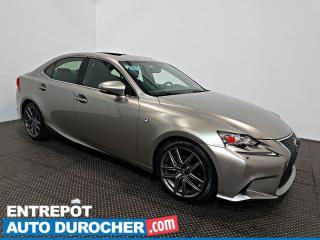 Used 2014 Lexus IS 250 AWD NAVIGATION - Toit Ouvrant - A/C - CUIR for sale in Laval, QC