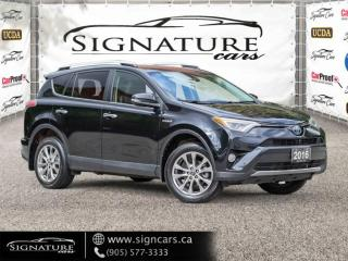 Used 2016 Toyota RAV4 HYBRID Limited. NO ACCIDENT. ALL OPTIONS for sale in Mississauga, ON