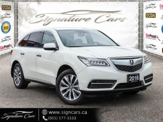Used 2016 Acura MDX SH-AWD.Tech Pkg .NO ACCIDENT. 8 PASS. ALL OPTIONS for sale in Mississauga, ON