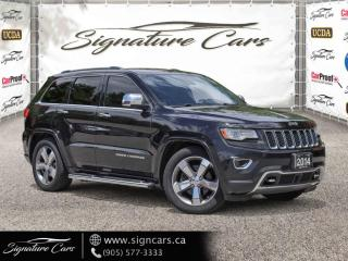 Used 2014 Jeep Grand Cherokee 4WD. OVERLAND. DIESEL. ONE OWNER. ALL OPTIONS for sale in Mississauga, ON