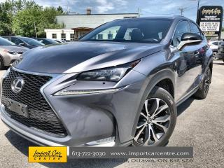 Used 2017 Lexus NX 200t F-SPORT 2 LEATHER  ROOF  NAVI  BLIS  HTD/CLD SEATS for sale in Ottawa, ON
