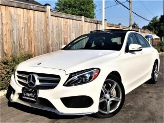Used 2016 Mercedes-Benz C-Class C300 4MATIC AMG SPORT PKG-PANO-CAMERA-NAVI-BLINDSPOT for sale in Toronto, ON