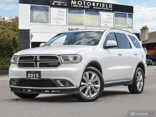 Used 2015 Dodge Durango SXT AWD *One Owner, Accident Free, Backup Cam, 7 Pass* for sale in Scarborough, ON
