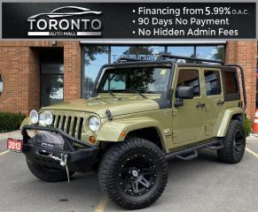 Used 2013 Jeep Wrangler Unlimited Sahara 4WD NAVI Front Impact Bar Nitto Tires Clean Carfax for sale in North York, ON