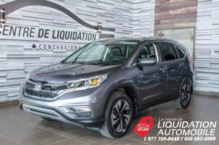 Used 2016 Honda CR-V Touring,MAGS,GR/ÉLECT,A/C,CAM/REC,TOIT,CUIR for sale in Laval, QC