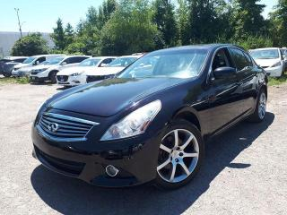 Used 2013 Infiniti G37X  Sedan Sport AWD for sale in Pickering, ON