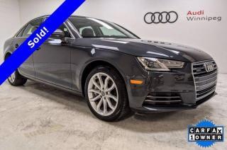 Used 2017 Audi A4 Progressiv w/Leather & Sunroof *Low KM* for sale in Winnipeg, MB