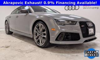 Used 2017 Audi RS 7 performance *Low KM Local Trade - Over $30k in options* for sale in Winnipeg, MB