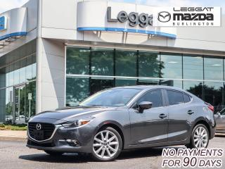 Used 2017 Mazda MAZDA3 GT- 2.5L, NAVI, BLUETOOTH, HEATED STEERING WHEEL, 18' ALLOY WHEELS for sale in Burlington, ON