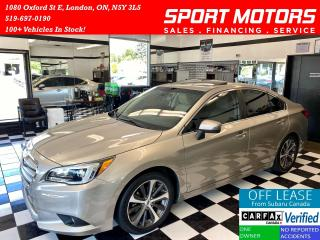 Used 2016 Subaru Legacy Limited W/Tech Pkg+Eye Sight+AWD+Accident Free for sale in London, ON
