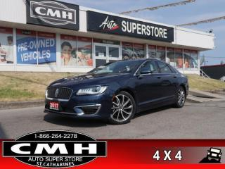 Used 2017 Lincoln MKZ Reserve  V6 AWD RESERVE CS PANO NAV CAM for sale in St. Catharines, ON
