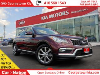 Used 2017 Infiniti QX50 AWD| ONE OWNER| ACCIDENT FREE| NAVI | ROOF| BU CAM for sale in Georgetown, ON