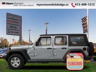 New 2020 Jeep Wrangler Unlimited Sahara  -  Android Auto - $313 B/W for sale in Ottawa, ON