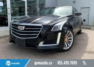 Used 2015 Cadillac CTS Sedan LUXURY - AWD, LEATHER, V6, NAV, BACK UP, SMOOTH AND LUXURIOUS RIDE for sale in Edmonton, AB