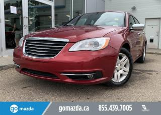 Used 2012 Chrysler 200 LIMITED - LEATHER, BLUETOOTH, SUNROOF, LOW KMS! for sale in Edmonton, AB