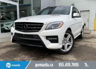 Used 2015 Mercedes-Benz ML-Class ML350 - DIESEL, AWD, AIR SUSPENSION, PANO ROOF, LUXURIOUS! for sale in Edmonton, AB