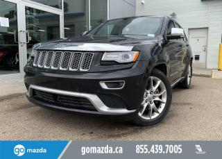 Used 2015 Jeep Grand Cherokee SUMMIT - LAGUNA LEATHER, PANOROOF, HEATED REAR SEATS, FULL BLACKBERRY JAM!!! for sale in Edmonton, AB
