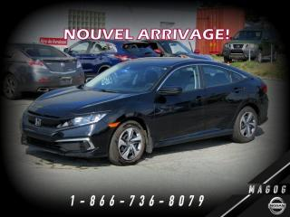 Used 2019 Honda Civic LX + GARANTIE + CAMÉRA + HONDA SENSING! for sale in Magog, QC