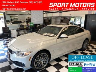 Used 2016 BMW 4 Series 428i xDrive+New Tires&Brakes+Camera+Accident Free for sale in London, ON
