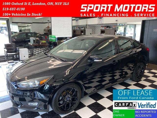 2016 Ford Focus SE+Black Pack+Heated Seats & Steering+AccidentFree