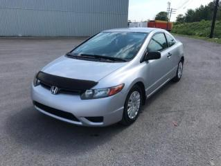 Used 2007 Honda Civic 2 portes, boîte manuelle DX for sale in Quebec, QC