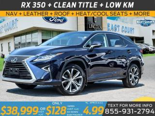 Used 2017 Lexus RX 350 AWD| LEATHER|ROOF|HEAT/COOL SEATS| 20 IN WHEELS| LOADED for sale in Scarborough, ON