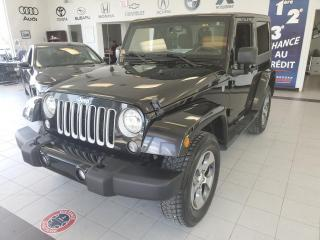 Used 2016 Jeep Wrangler SAHARA / 2 PORTES / 4 RM / MANUEL /  AIR for sale in Sherbrooke, QC
