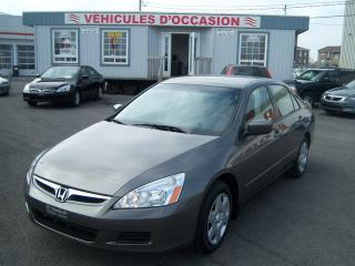 Used 2007 Honda Accord DX-G for sale in St-Jean-Sur-Le-Richelieu, QC