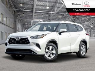 New 2020 Toyota Highlander LE STD PKG W/PREMIIUM PAINT for sale in Winnipeg, MB