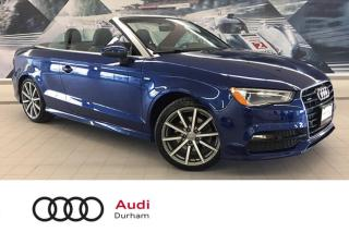 Used 2016 Audi A3 Cabriolet 2.0T Progressiv + Rear Cam | S-Line | Nav for sale in Whitby, ON