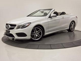 Used 2017 Mercedes-Benz E-Class E 400 CONVERTIBLE INTÉRIEUR 2 TONS for sale in Brossard, QC