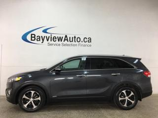 Used 2017 Kia Sorento 2.0L EX - 7PASS! TURBO! HTD LEATHER! SUNROOF! for sale in Belleville, ON