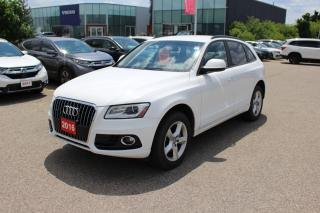 Used 2016 Audi Q5 2.0T Komfort Accident Free Audi Q5! Excellent Condition With Brand New Brakes All Around! for sale in Waterloo, ON