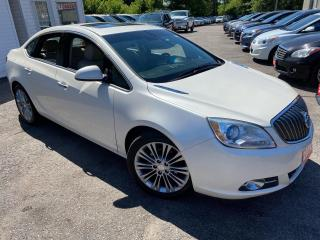 Used 2012 Buick Verano 1SL/ NAVI/ LEATHER/ SUNROOF/ ALLOYS/ PEARL WHITE + for sale in Scarborough, ON