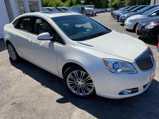 2012 Buick Verano 1SL/ NAVI/ LEATHER/ SUNROOF/ ALLOYS/ PEARL WHITE +