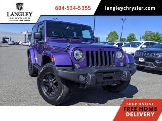 Used 2017 Jeep Wrangler Winter  Upgraded bumper / Manual /Tubular Side Steps for sale in Surrey, BC