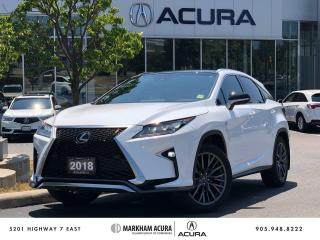 Used 2018 Lexus RX 350 F Sport Series 3 for sale in Markham, ON