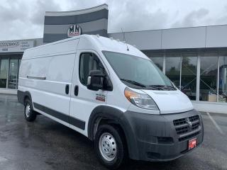 Used 2017 RAM 3500 ProMaster High Roof Extended 3500 3.6L V6 ONLY 156KM for sale in Langley, BC
