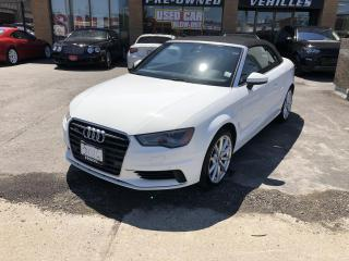 Used 2016 Audi A3 2dr Cabriolet quattro 2.0T Progressiv-BACK UP CAM for sale in North York, ON