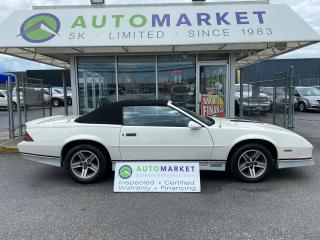 Used 1988 Chevrolet Camaro IROC Z CONVERTIBLE! RARE! INSPECTED! FREE BCAA & WRNTY! COLLECTIBLE! for sale in Langley, BC
